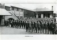 Assembly on School Quad, 1920.