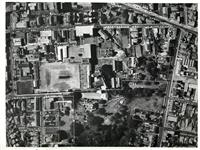 Aerial photograph showing school boundaries c1965
