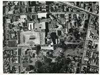 Aerial photograph showing school boundaries c1965