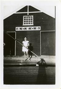 Rowing shed  at Berry's Bay c1940