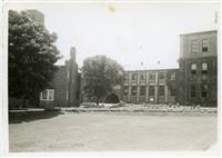 Chapel lawn and Middle Block