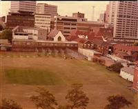 Cricket practice nets, 1986