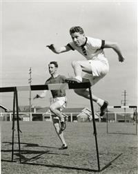 Alan Victor Maxwell hurdling 1940