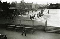 Bayonet practice on the school oval 1940