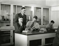 Physics Laboratory with Mr CS Tiley 1941