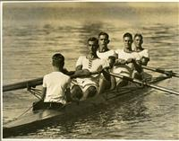 Rowing IV on the river c1930