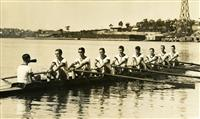 1st VIII rowing on the river 1931