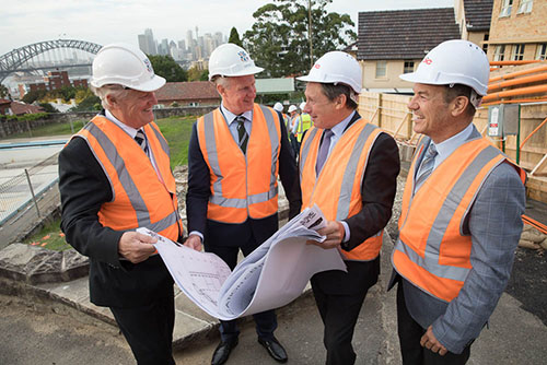 Dr Wright Headmaster Mr Holman Chair of Council  Mr Ben Cottle and Mr Blake Cottle FDC Building review plans