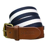 Shore Canvas and Leather Belt $50